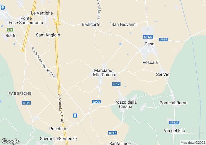 Map for Borgo 69, Marciano Della Chiana, Tuscany, Italy