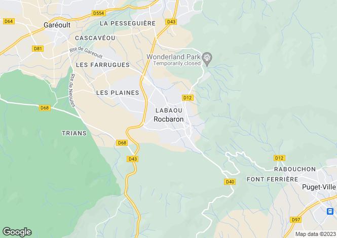 Map for Rocbaron, Var, 83136, France