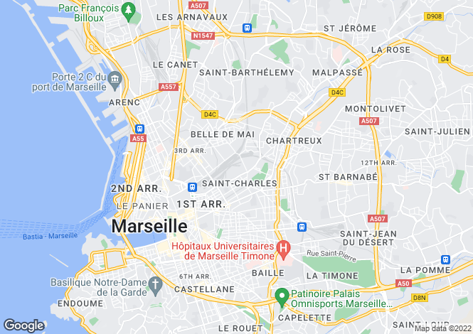 Map for MARSEILLE, Marseille Area, Provence - Var,