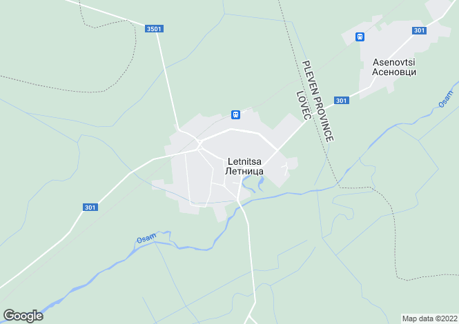 Map for Letnitsa, Lovech