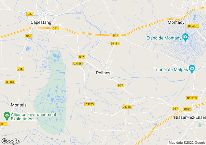 Map for Poilhes, Poilhes, France