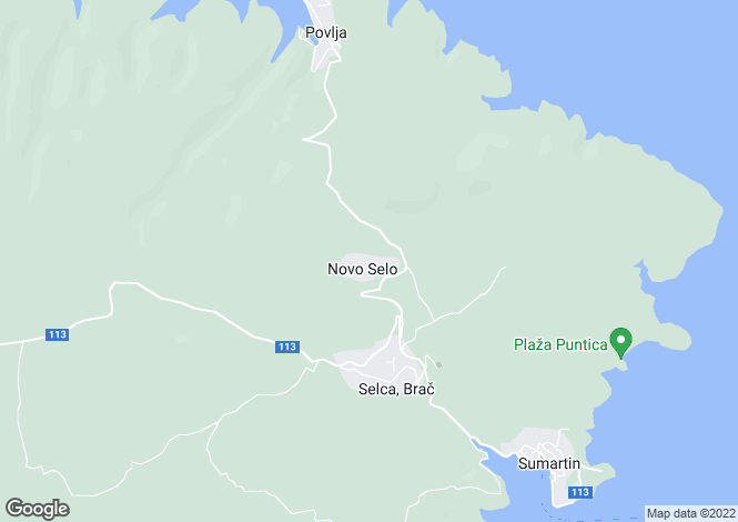 Map for Selca, Brac Island, Split-Dalmatia