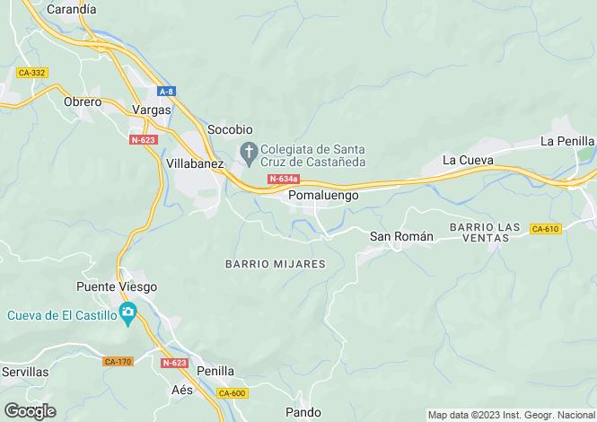 Map for Pomaluengo, Santander, Cantabria