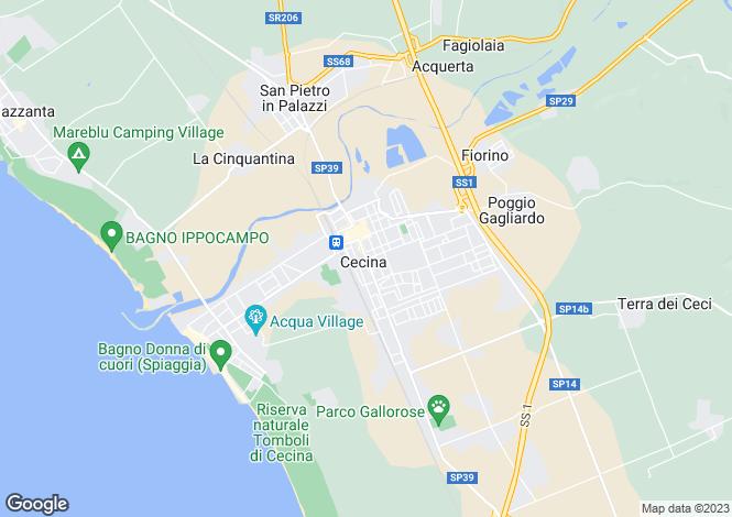 Map for Cecina, Tuscany, Italy
