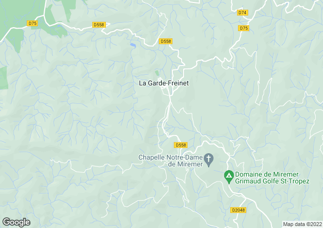 Map for La Garde Freinet, French Riviera, Var Coast