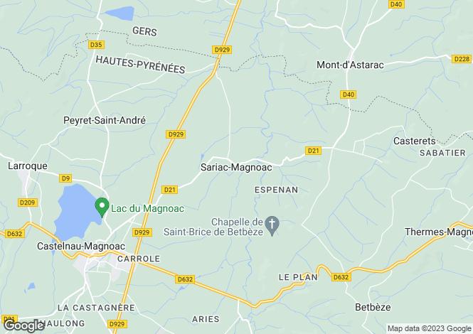Map for Castelnau-Magnoac, Midi-Pyrenees, 65230, France