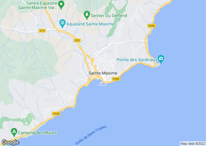Map for Sainte-Maxime, Var, 83120, France