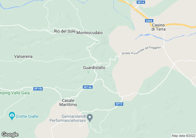Map for Tuscany, Pisa, Montescudaio