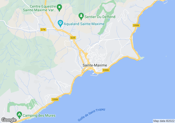 Map for Ste-Maxime, Var, Provence-Alps-Cote d`Azur