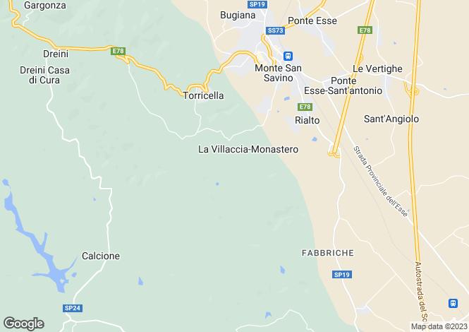Map for Monte San Savino, Arezzo, Tuscany