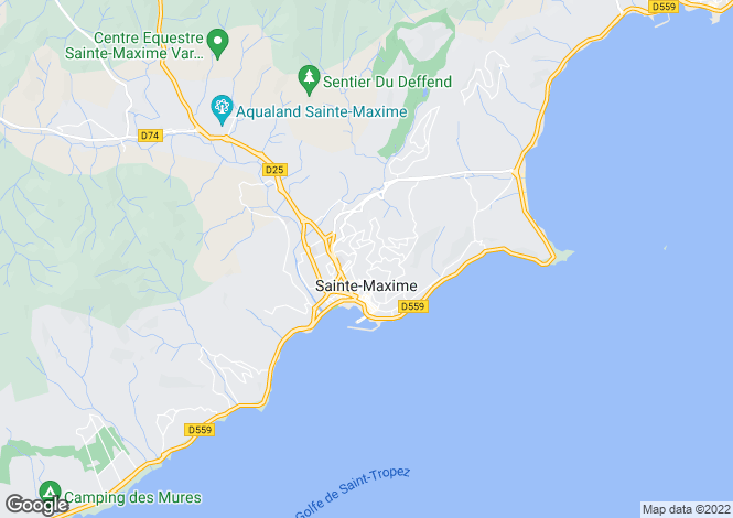 Map for Sainte Maxime, Saint Tropez, French Riviera
