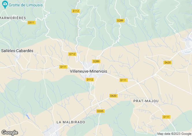 Map for Villeneuve-Minervois, Aude, Languedoc-Roussillon