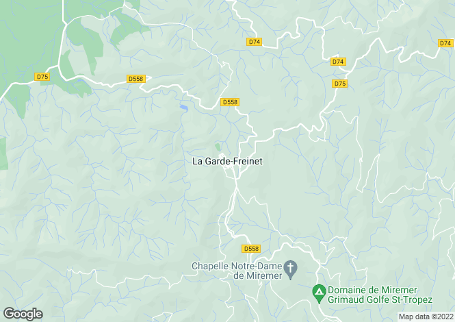 Map for La Garde-Freinet, Var, 83680, France
