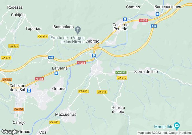 Map for Luzmela, Santander, Cantabria