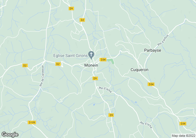 Map for Monein,France