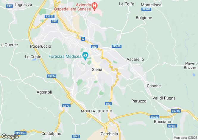 Map for Tuscany, Siena, Asciano