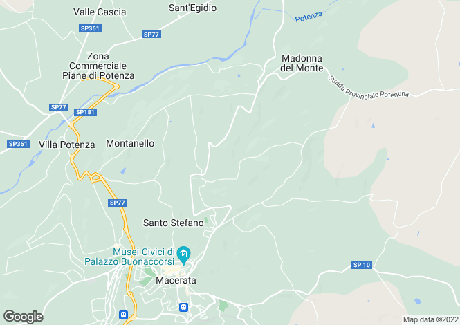Map for Macerata, Macerata, Le Marche