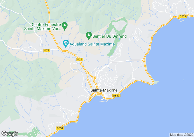 Map for Provence-Alps-Cote d`Azur, Var, Ste-Maxime