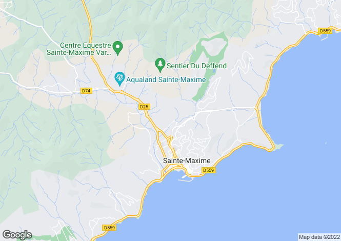Map for St-Raphaël, Var, Provence-Alps-Cote d`Azur