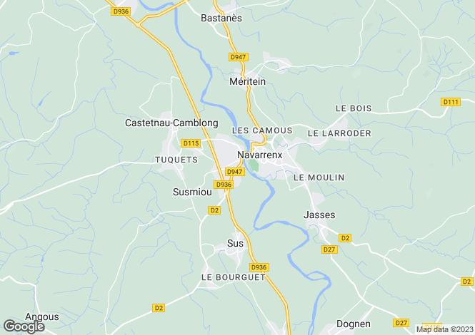 Map for Navarrenx, Near Pau, Aquitaine