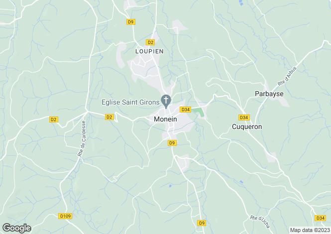 Map for Secteur: Monein, Pyrenees Atlantiques