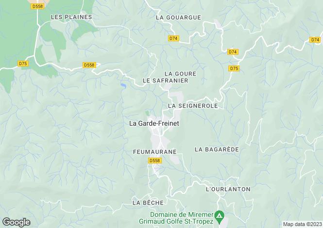 Map for Provence-Alps-Cote d`Azur, Var, La Garde-Freinet
