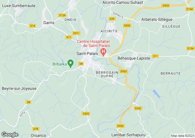 Map for St-Palais, Pyrénées-Atlantiques, Aquitaine