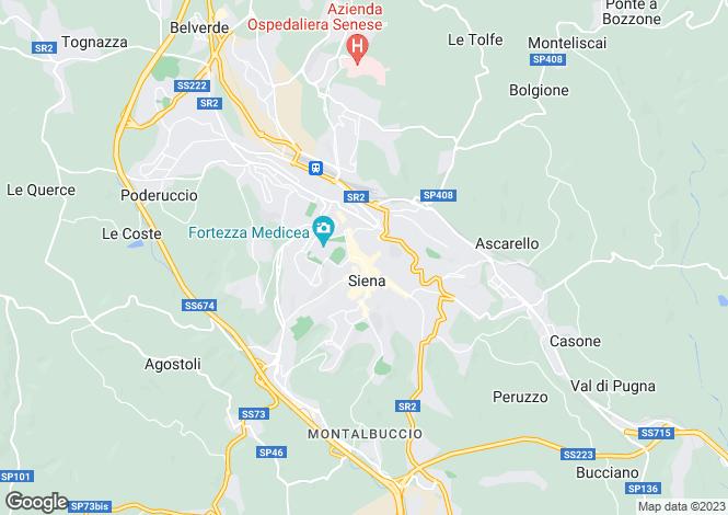 Map for Tuscany, Siena, Siena