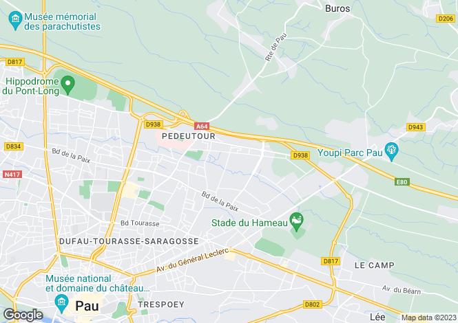 Map for Near Pau, Pyrenees Atlantiques, Aquitaine