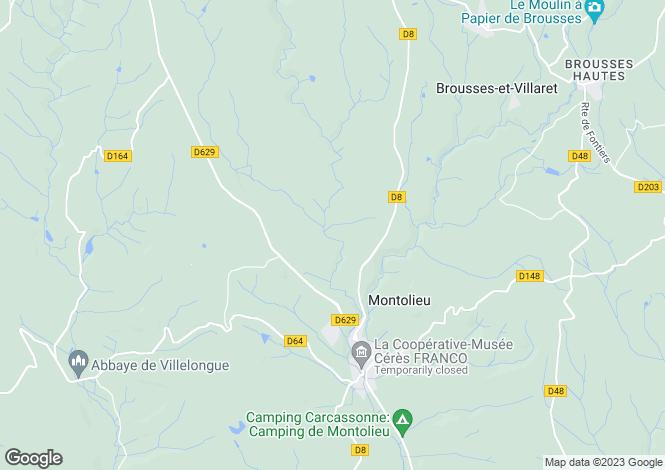 Map for Languedoc-Roussillon, Aude, Montolieu
