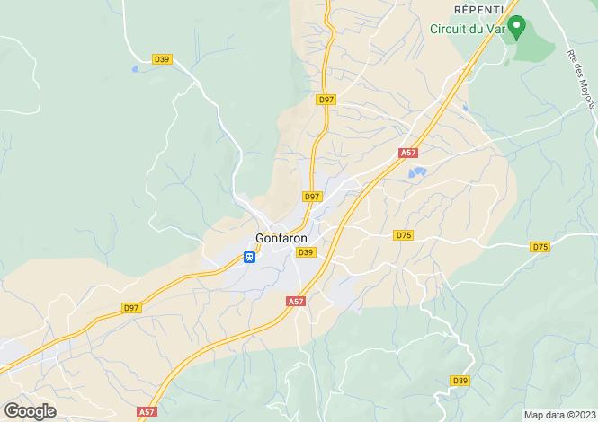 Map for Gonfaron, 83590, France