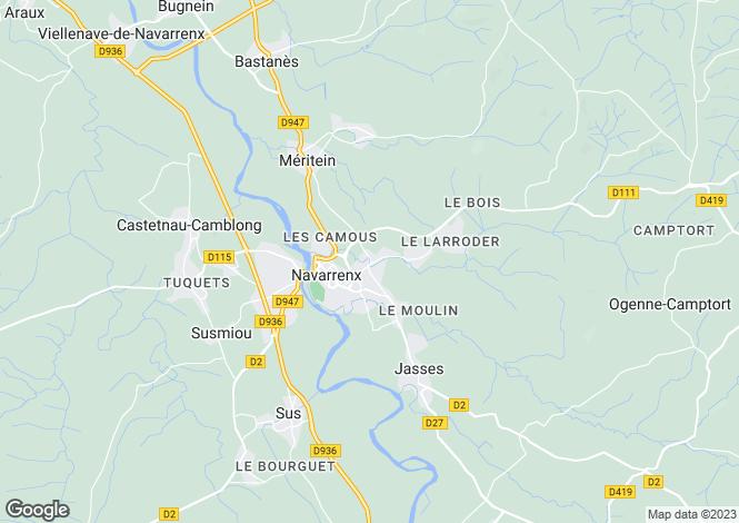 Map for Navarrenx, Pyrénées-Atlantiques, Aquitaine