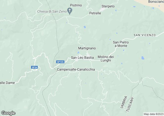 Map for La Casaccia, San Leo Bastia, Umbria, Italy
