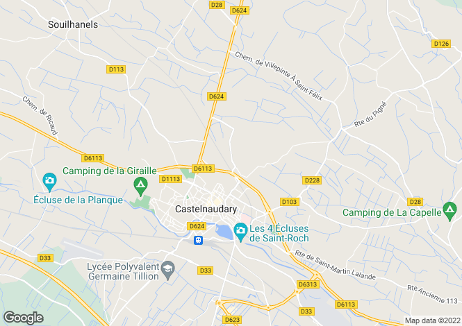 Map for castelnaudary, Aude, France