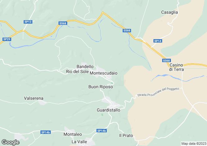 Map for Montescudaio, Tuscany, Italy