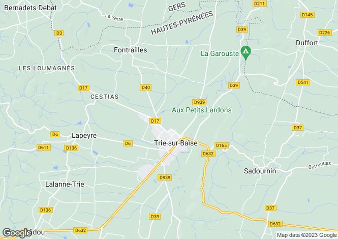 Map for trie-sur-baise, Hautes-Pyrénées, France