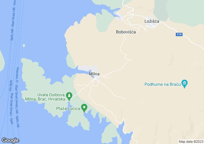Map for Milna, Brac, Split-Dalmatia