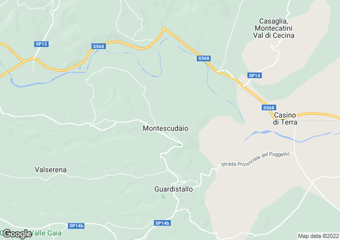 Map for Montescudaio, Pisa, Tuscany
