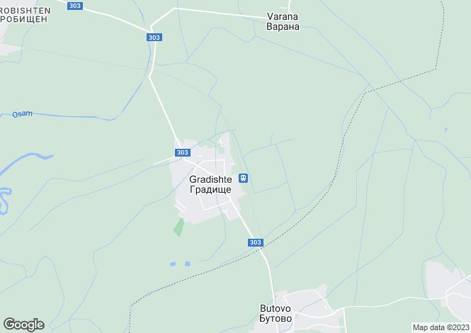 Map for Gradishte, municipality Levski