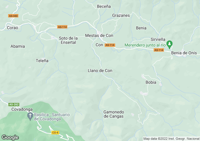 Map for Llanos de Con, Asturias, Spain