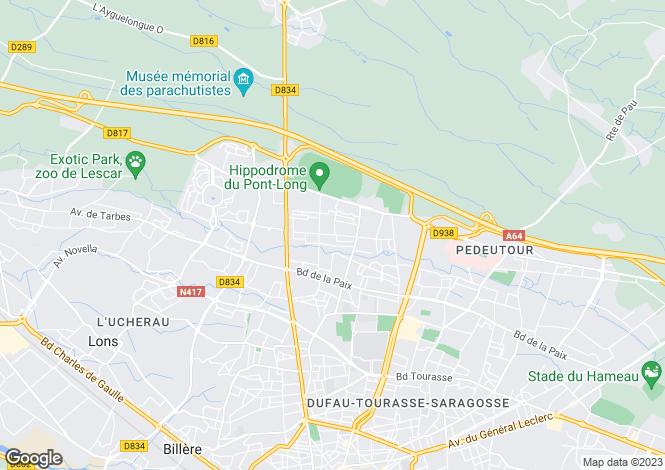 Map for Bearnaise House, Near Pau, Aquitaine