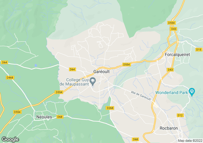 Map for Gareoult, Var, 83136, France