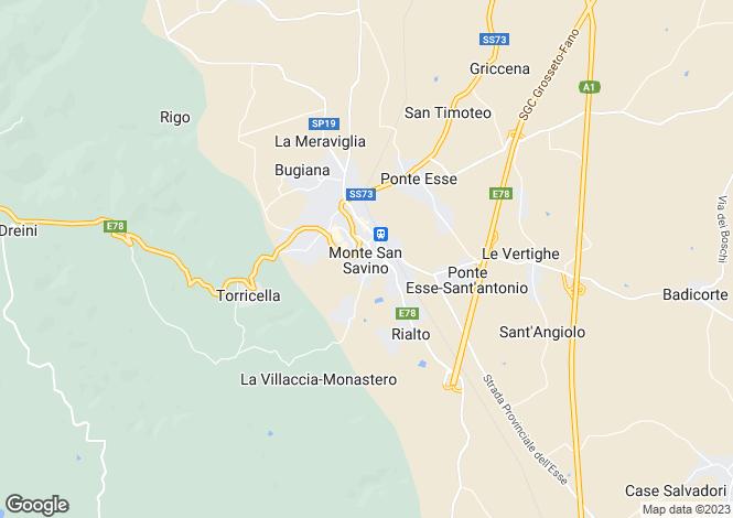 Map for Villa Ficai, Monte San Savino, Tuscany, Italy