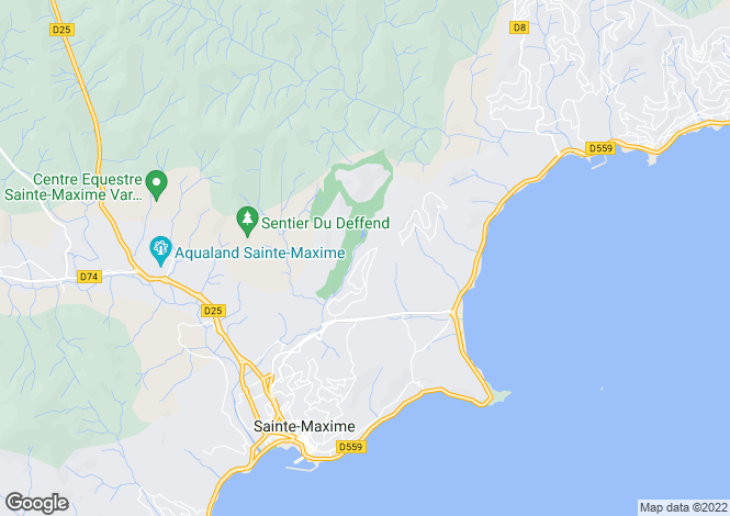 Map for Domaine Du Golf, Sainte-Maxime, French Riviera