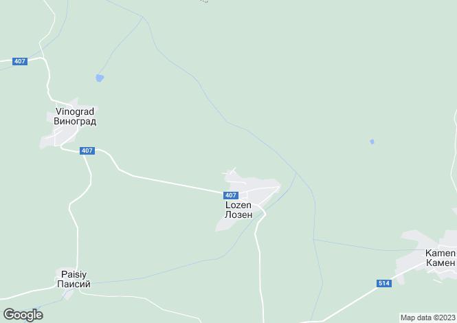 Map for Lozen, municipality Strazhitsa