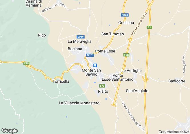 Map for Via della Stazione, Monte San Savino, Tuscany