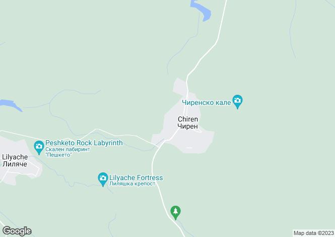 Map for Chiren, Vratsa