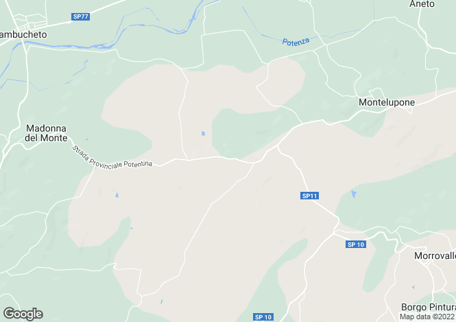 Map for Montelupone, Macerata, Le Marche