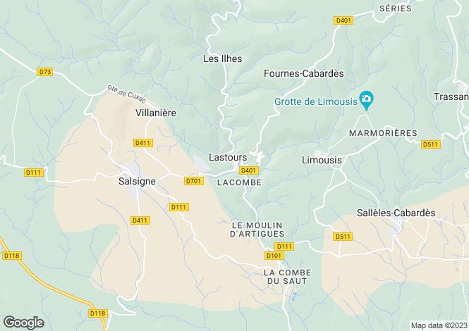 Map for Lastours, Aude, Languedoc-Roussillon