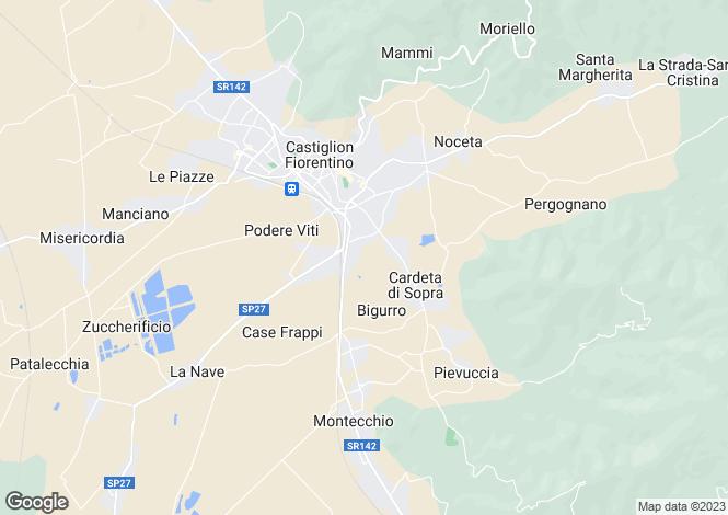 Map for Castiglion Fiorentino, Tuscany, Italy